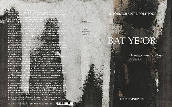 """Résultat de recherche d'images pour """"Bat Ye'or, Autobiographie politique, de la découverte du dhimmi à Eurabia. Les Provinciales 2018."""""""