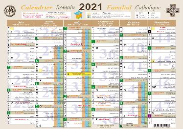 Nouveautés Éditeurs   Calendrier Romain Familial 2021 A4